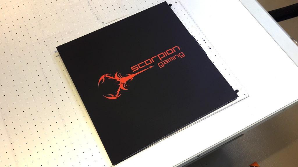 Scorpiong Gaming brand som custom UV print blev udviklet med